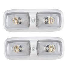 Amazon Rv Interior Lights Rv 12v Led Double Dome Lighting Fixture 4200k Rv Led Lights Interior Lighting 2 Pack