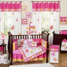 pink baby furniture. butterfly pink u0026 orange bedding by sweet jojo designs baby crib furniture r