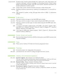 Best Latex Resume Templates Phd Students Fascinating Resume Format