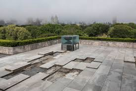 new art on nyc s met museum roof installation or excavation