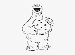 Cookie Monster Eating Cookies Are Great Coloring Pages Sesame