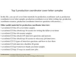 production coordinator resumes sample production coordinator cover letter production coordinator