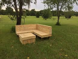Wood Pallet Sectional Patio Furniture  Pallet Furniture DIYHandmade Outdoor Wood Furniture