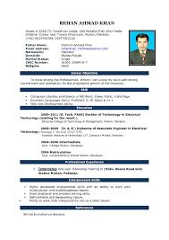 Resume Sample Doc File Simple Resume Format Sample Doc Biodata