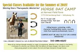 Horse Camp - Shining Stars Therapeutic Ministries