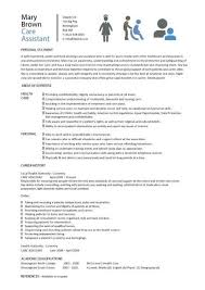 Care assistant CV template, job description, CV example, resume, curriculum  vitae, job application