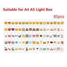 85pcs a4 a5 size led cinematic light box letters garden ornaments emoji symbols glyphs card for cinema lamp party decor