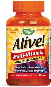 Nature's Way <b>Alive</b>!® Adult Premium <b>Gummy Multivitamin</b>, Fruit and…