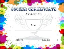 Soccer Certificate Templates For Word Gift Certificate Maker Template For Word Colorful Award Templates