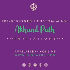 Akhand Path Invitations Available Online At Gidcards