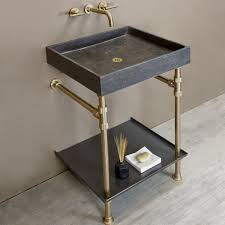 brass console sink. Beautiful Sink Ventus Bath Console With Metal Tray In Brass Sink S