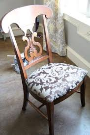 these diy instructions show you how to rev old dining chairs for a new look in your dining room reupholster the chair cushion with your favorite