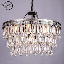 chandeliers crystal drops and vintage big glass drops led crystal iron chandeliers pendants modern hanging lamp