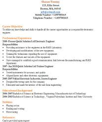 Professional Engineer Resume Samples Sample Resume For Electrical Engineer 1 Handplane Goodness