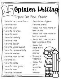 opinion writing unit opinion writing students and school opinion writing first grade centers and more