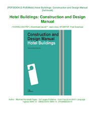 Design And Construction Manual Download Book Hotel Buildings Construction And Design