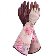 garden girl rose gauntlet gloves
