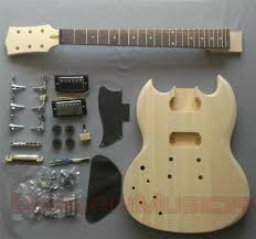 details about left handed sg style diy unfinished project luthier electric guitar kit