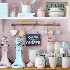 Retro Kitchen Decor Accessories A Retro Pastel Kitchen and Baking Dream Heart Handmade uk deco 4