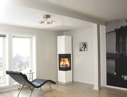 Decorations:Breathaking Corner Electric Fireplaces Design With Cozy Black  Leather Lounge Chair Also Laminate Wooden