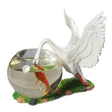 Decorative Fish Bowls SimLife Decorative Glass Fish Bowl Aquarium Swan [bowlS 94