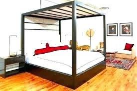 Canopy Bed Posts King Canopy Bed Frame With Headboard Rails Slats ...