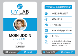 Identity Card Design Id Card Creative Design Barca Fontanacountryinn Com