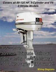 johnson evinrude outboards hp service manual down pay for johnson evinrude outboards 1958 72 50 125hp service manual
