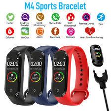 <b>New</b> M4 <b>SMART</b> FITBIT <b>Bluetooth</b> Heart Rate Blood Pressure ...