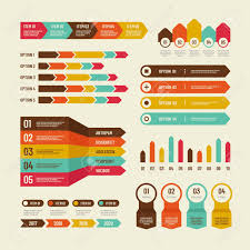 Infographic Template Economic Charts Marketing Graphs Process