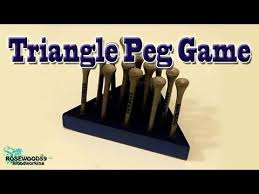 Wooden Triangle Peg Game How to Make A Triangle Peg Game YouTube 88