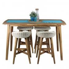 euro italia bar set table and 4 x bar stools mix beige