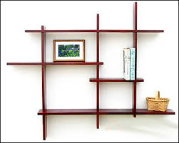 Luxury Living Room with Wooden Rectangular Wall Mounted Shelving Units, 3  Pieces Lounge Cube Stand