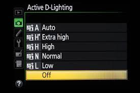 nikon active d lighting