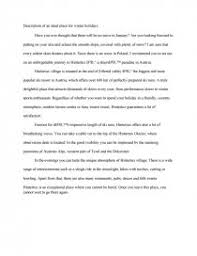 description of an ideal place for winter holidays essays similar essays