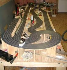 ho slot car racing routed wooden track the hairpin