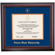 m state color traditional diploma frame