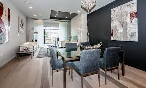 image of ceiling linear chandelier dining room