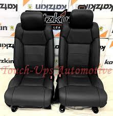 2016 2018 toyota tundra crewmax katzkin black leather seat covers kit 2016 2016