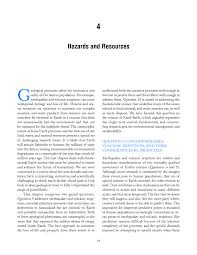 hazards and resources origin and evolution of earth research  page 95