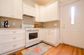 beige backsplash white cabinets. White Cabinets Counter Beige Crackle Glass Subway Tile For Backsplash