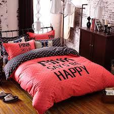 kids bedding set red happy boys girls quilt duvet cover bed sheet cartoon pattern bedspread queen twin size