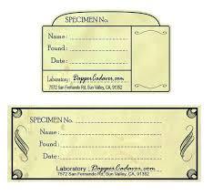 The Bird Printable Vintage Apothecary Labels Specimen Label Template