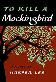 to kill a mockingbird  cover of the book showing title in white letters against a black background in a banner