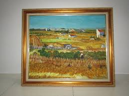 close replica of the harvest originally painted by vincent van gogh oil painting