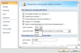 Small Picture Change The Default Color Scheme In Office 2007