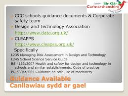 Health And Safety For Design Technology In Schools Ppt Design And Technology Dylunio A Thechnoleg Powerpoint