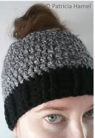 Free Crochet Hat Pattern With Ponytail Hole Adorable Free Crochet Pattern PONY TAIL HAT Uziesyarniestuff