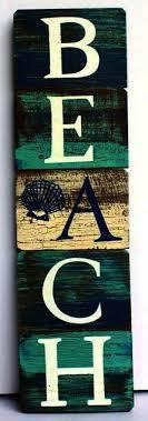 beach themed plaques coastal signs of sea level dan word