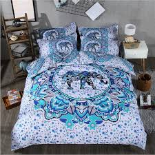 india 3d elephant comforter bedding sets printing luxury bohemian duvet cover set queen king size bed sets bed line 3 green duvet cover white duvet from
